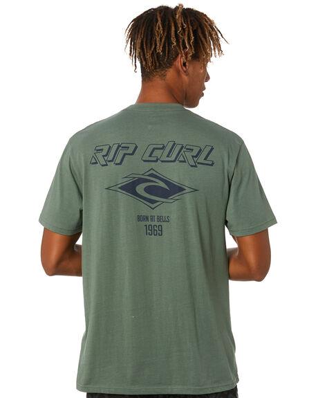 MID GREEN MENS CLOTHING RIP CURL TEES - CTESS99436