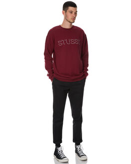 DARK AUBERGINE MENS CLOTHING STUSSY JUMPERS - ST076219DAUB