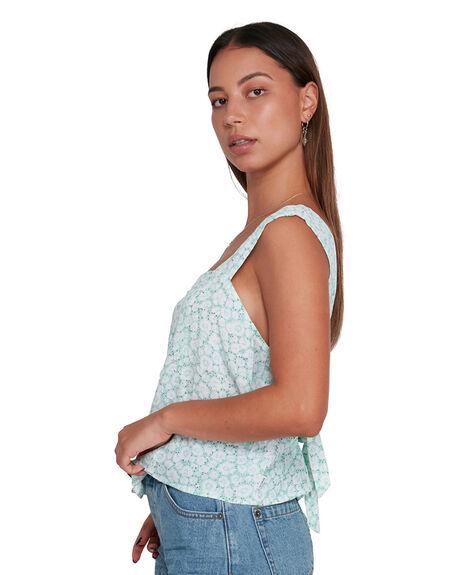 MINT WOMENS CLOTHING RVCA FASHION TOPS - RV-R205181-MNT