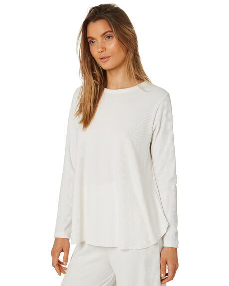 WARM WHITE WOMENS CLOTHING ZULU AND ZEPHYR TEES - ZZ2398WWHT