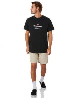BLACK MENS CLOTHING THRILLS TEES - TA20-115BBLK