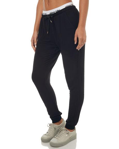 BLACK WOMENS CLOTHING STUSSY PANTS - ST172A03BLK