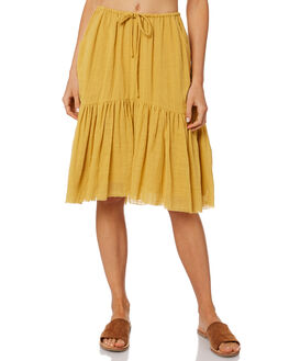 YELLOW WOMENS CLOTHING RUE STIIC SKIRTS - WS18-07-Y-CSYEL
