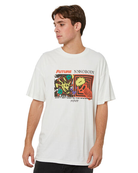WASHED WHITE MENS CLOTHING MISFIT TEES - MT015011WSHWT