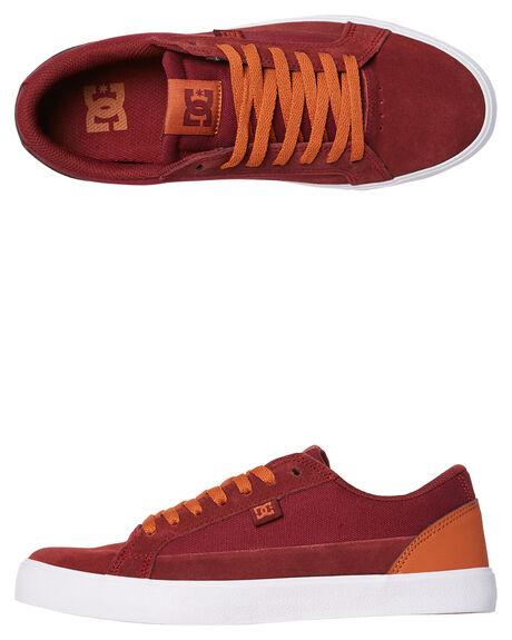 BURGUNDY TAN MENS FOOTWEAR DC SHOES SNEAKERS - ADYS300489BT3