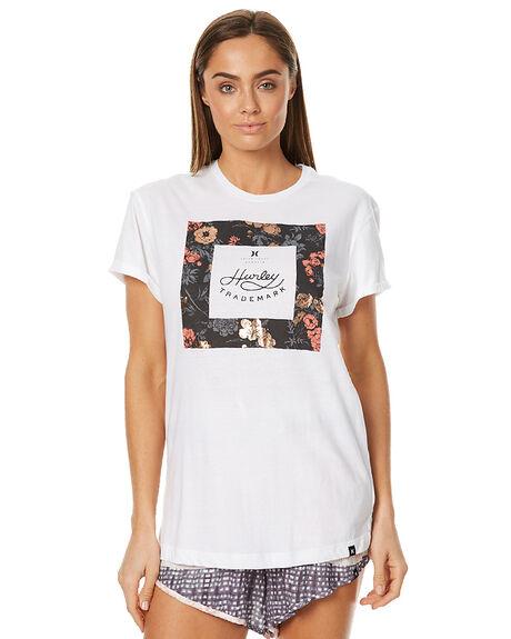 WHITE WOMENS CLOTHING HURLEY TEES - AGTSVETR10A