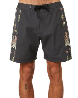 DIRTY BLACK MENS CLOTHING BANKS BOARDSHORTS - BS0242DBL