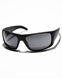 FUZZY BLACK GREY MENS ACCESSORIES ARNETTE SUNGLASSES - AN4179-02FBKGR