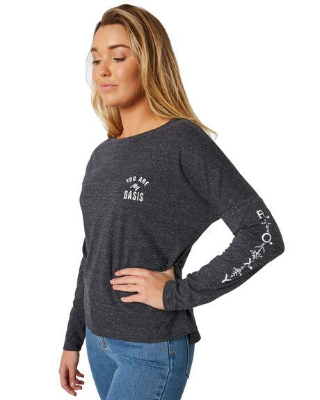ANTHRACITE WOMENS CLOTHING ROXY TEES - ERJZT04300KVJ0