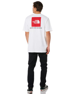 TNF WHITE RED MENS CLOTHING THE NORTH FACE TEES - NF0A3SY3LB1