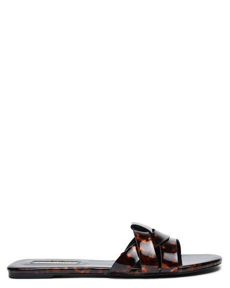 TORTOISESHELL WOMENS FOOTWEAR BILLINI SLIDES - S634TORT