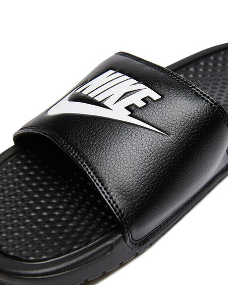 BLACK WHITE MENS FOOTWEAR NIKE SLIDES - SS343880-090M