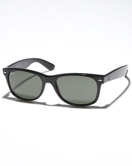 BLACK CRYSTAL GREEN MENS ACCESSORIES RAY-BAN SUNGLASSES - 0RB213255901L