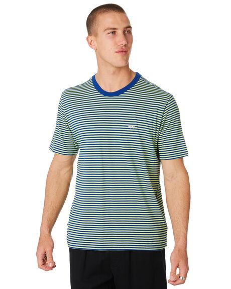 SURF BLUE MENS CLOTHING OBEY TEES - 131080182SRFBL