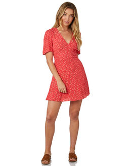 RED WHITE HEART WOMENS CLOTHING THE FIFTH LABEL DRESSES - 40181032-2RED