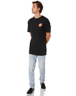BLACK MENS CLOTHING SANTA CRUZ TEES - SC-MTA9149BLK