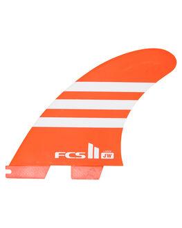 RED WHITE BOARDSPORTS SURF FCS FINS - FJWL-PC02-LG-TS-RRDW