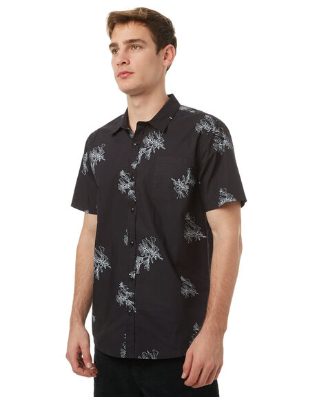 BLACK MENS CLOTHING SWELL SHIRTS - S5174168BLK