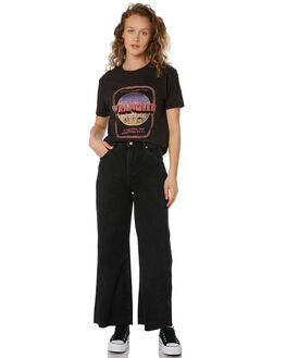WORN BLACK WOMENS CLOTHING WRANGLER TEES - W-951420-082