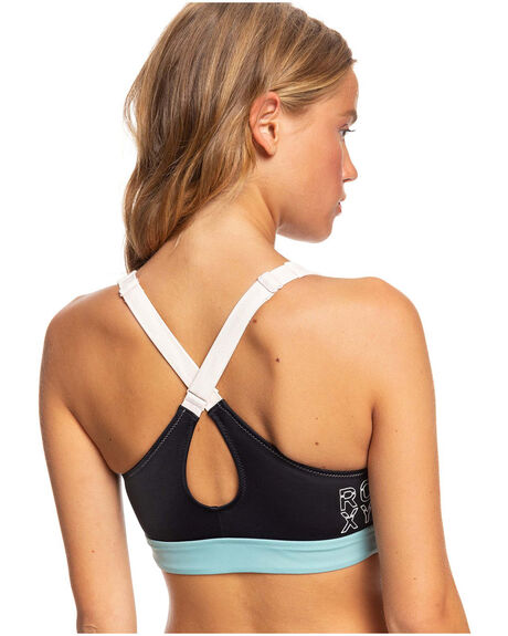 ANTHRACITE WOMENS CLOTHING ROXY ACTIVEWEAR - ERJX304126-KVJ0