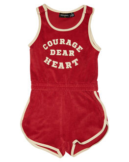 BURGUNDY KIDS TODDLER GIRLS ROCK YOUR BABY PLAYSUITS + OVERALLS - TGB1831-CDBUR