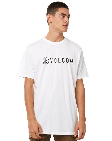 WHITE MENS CLOTHING VOLCOM TEES - A35117G7WHT