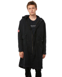BLACK MENS CLOTHING THE PEOPLE VS JACKETS - AW18043BLK