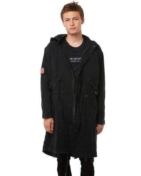 BLACK OUTLET MENS THE PEOPLE VS JACKETS - AW18043BLK