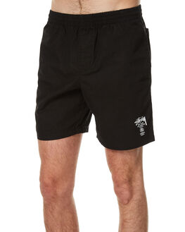BLACK MENS CLOTHING STUSSY BOARDSHORTS - ST071606BLK