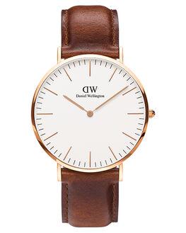 ROSE GOLD WHITE BRO MENS ACCESSORIES DANIEL WELLINGTON WATCHES - DW00100006BRWWH
