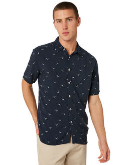 SLATE SEAGULL MENS CLOTHING BARNEY COOLS SHIRTS - 305-CR3SSGL