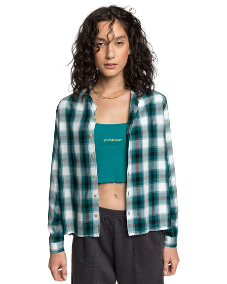 ORION BLUE WOMENS CLOTHING QUIKSILVER FASHION TOPS - EQWWT03042-BRG1