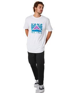 WHITE MENS CLOTHING VANS TEES - VNA49KPWHT