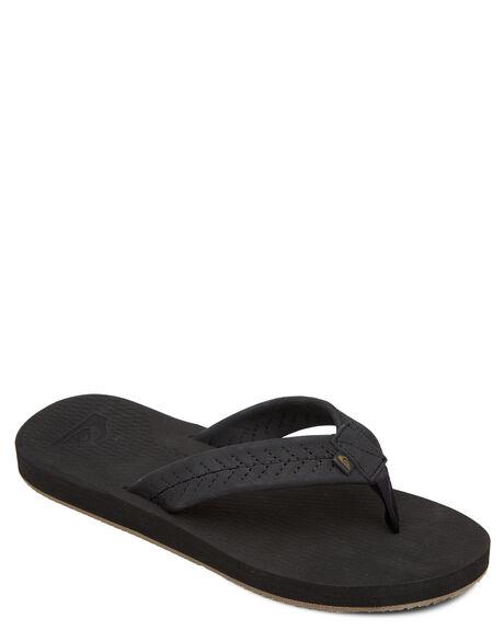 BLACK BLACK BROWN MENS FOOTWEAR QUIKSILVER THONGS - AQYL101091-XKKC