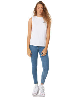 WHITE WOMENS CLOTHING AFENDS SINGLETS - W182080WHT