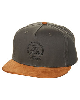CHARCOAL BROWN MENS ACCESSORIES AFENDS HEADWEAR - 13-02-054CHAR