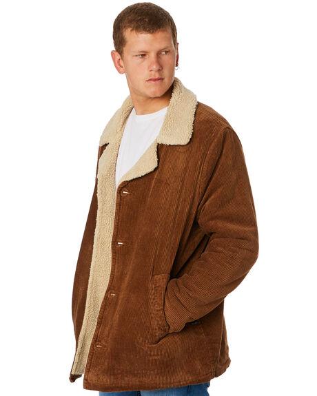 TAN CORD MENS CLOTHING ROLLAS JACKETS - 155951868
