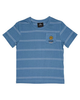 MID BLUE KIDS BOYS RIP CURL TOPS - OTEVX28962