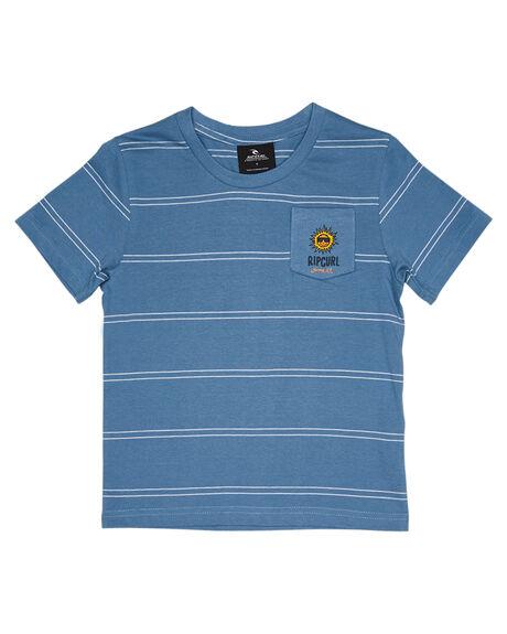 MID BLUE KIDS BOYS RIP CURL TOPS - OTEVX28962