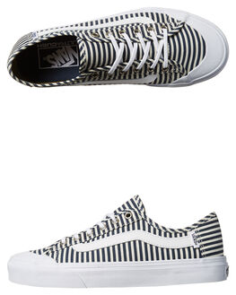 NAVY STRIPES WOMENS FOOTWEAR VANS SKATE SHOES - VN-048ZN4VNAVY