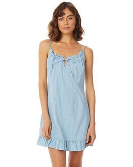 LIGHT CHAMBRAY WOMENS CLOTHING RUE STIIC DRESSES - SA18-23-LC-CHAM