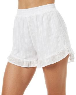 NATURAL WOMENS CLOTHING RHYTHM SHORTS - OCT17W-WS01NAT