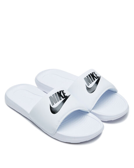 WHITE WOMENS FOOTWEAR NIKE SLIDES - CN9677-100