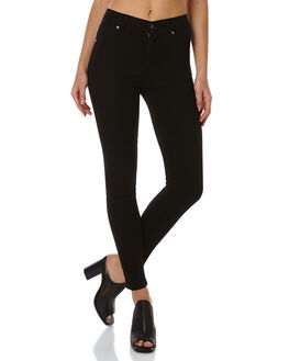 BLACK WOMENS CLOTHING CHEAP MONDAY JEANS - 0264954BLK