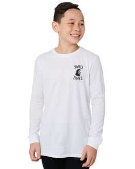 WHITE KIDS BOYS SWELL TOPS - S3194100WHITE