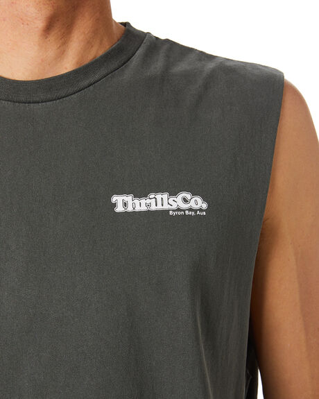 MERCH BLACK MENS CLOTHING THRILLS SINGLETS - TH20-124BMMBLK