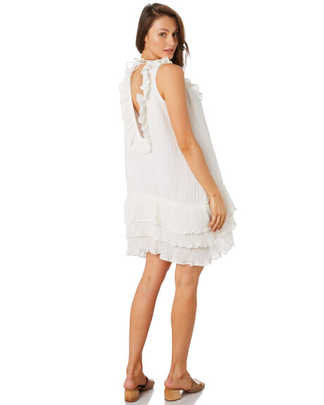 WHITE OUTLET WOMENS RUE STIIC DRESSES - RWS-19-43-1WHT