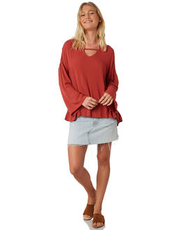RUST WOMENS CLOTHING ALL ABOUT EVE FASHION TOPS - 6401015COPP