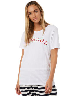 WHITE WOMENS CLOTHING ELWOOD TEES - W73111WHT