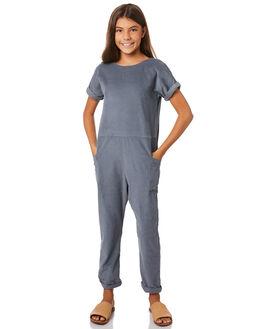 BLUE MOON KIDS GIRLS FEATHER DRUM DRESSES + PLAYSUITS - FDG66BLMN